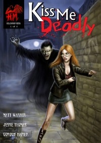 Cover art for Kiss Me Deadly Issue 1, created by Gordon Napier