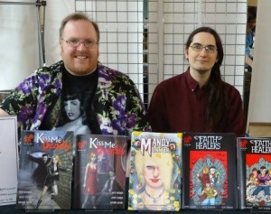 Matt Warner (left) and Mark Adams (right) at the Bristol Comic Expo 2012